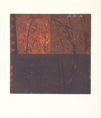 1003: Charles Tyrell, (b.1950) Crossover Etching, 22.5c