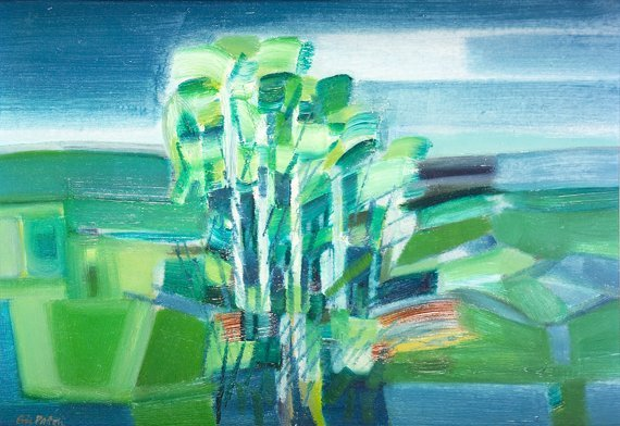 1008: Eric Patton RHA (1925-2004) Landscape with Trees