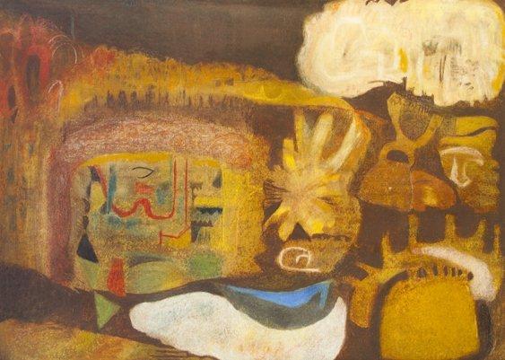 1011: Noreen Rice (b.1936) Dusky Landscape Mixed media,
