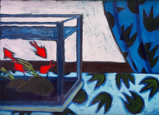 1023: Graham Knuttel, (b.1954) Aquarium Oil on canvas,