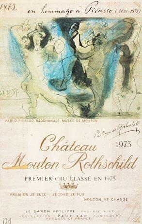 1128: Chateau Mouton Rotschild en Hommage a Picasso Lim