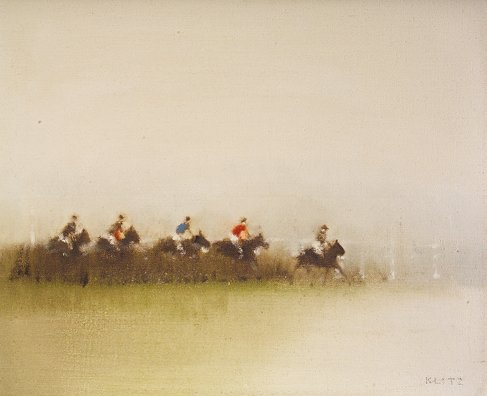 2006: Tony Klitz (1917-2000) Racing Scene Oil on canvas