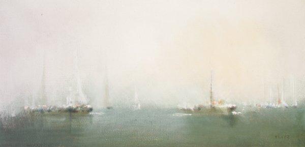 2007: Tony Klitz (1917-2000) Yachts in the Bay Oil on c