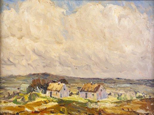 2022: Charles Lamb RHA RUA (1843-1964) Connemara Cottag