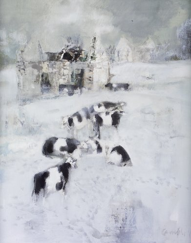 2023: George Campbell RHA (1917-1979) Cattle Winter, Co