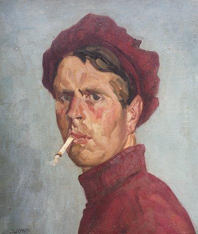 1: Patrick Leonard, HRHA, (1918-2005) Self Portrait, 19