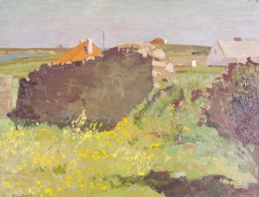 3: Patrick Leonard, HRHA, (1918-2005) Broken Wall Rush