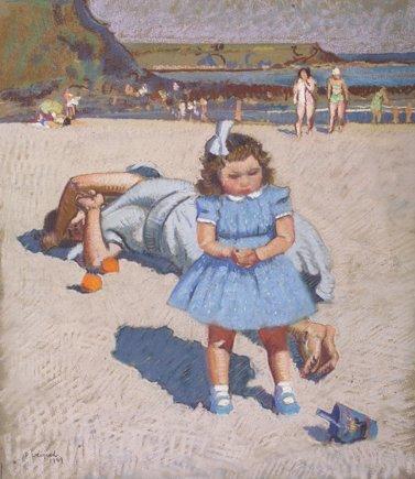 7: Patrick Leonard, HRHA, (1918-2005) The Blue Dress Pa