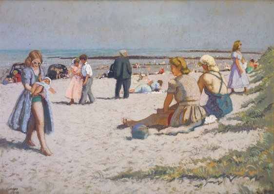 14: Patrick Leonard, HRHA, (1918-2005) North Beach, Rus