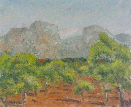 125: Patrick Leonard, HRHA, (1918-2005) Majorca Oil on