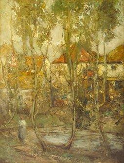 1006: Grosvenor Thomas R.S.W. (1856-1923) A Village Vie