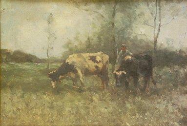 1007: Robert D. Pasquoll (Scottish, 1881-1927) Cattle w