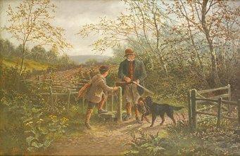 1011: A. Dunnington (British) At the Old Covert; Pheasa