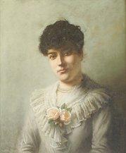 1023: Arthur Wilson Half Length Portrait of a Girl in