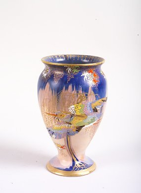 1241: A Carlton Ware Sketching Bird Vase of ovoid form,