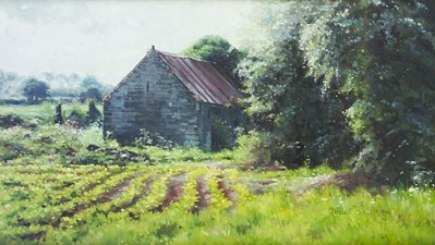 2003: Mark O'Neill (b.1963) The Red Roof Oil on board,