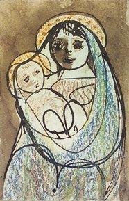 2011: Gerard Dillon RHA RUA (1916-1971) Virgin and Chil