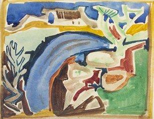 2014: Gerard Dillon RHA RUA (1916-1971) Abstract Landsc
