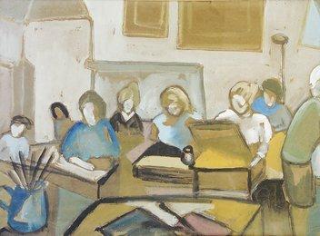 2018: Phil Rafferty (1916-1996) Drawing Class at Kensin