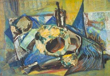 2019: Phil Rafferty (1916-1996) Still Life Collage, Mix