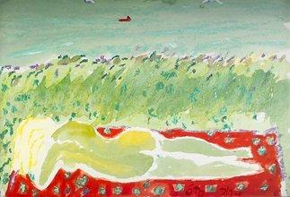 2020: Tony O'Malley HRHA (1913-2003) Nude in Landscape
