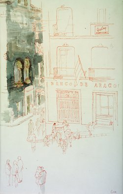 2022: Tom Carr HRUA HRHA (1909-1999) Alcamiz Watercolou