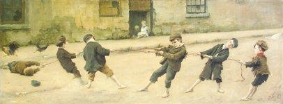 2092: Richard Thomas Moynan RHA (1856-1906) Tug of War