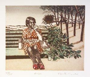 3001: Martin Gale RHA (b.1949) Chips Etching. 36 x 39cm