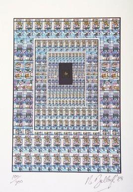 3003: Robert Ballagh (b.1943) Microchip Mixed media, 24