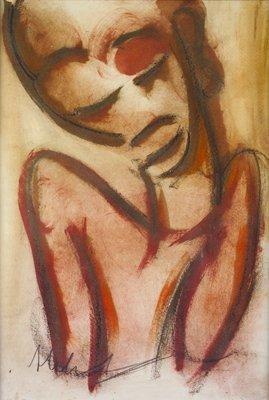 3004: Michael Mulcahy (b.1952) African Figure Study Pas