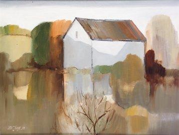 3006: Leo Toye (20th Century) Building in Landscape, Co