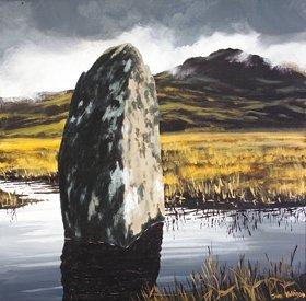 3008: Jim Halligan (20th Century) Standing Stone Oil on