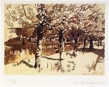 3015 Brett McEntaggart RHA b 1939 Trees Along the Ca