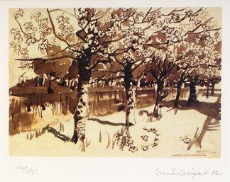 3015: Brett McEntaggart RHA (b 1939) Trees Along the Ca
