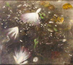 3022: Dana Winder (20th Century) White Flowers Falling