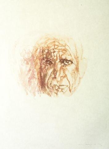 3118: Louis le Brocquy HRHA (b.1916) Picasso; Pink Head