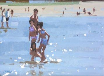 3149: John Morris, (20th Century) On Inch Beach Oil on