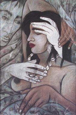 3178: 20th Century School Portrait of a girl sleeping,