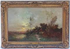 """Evening Glow"", Arthur Hoeber, American (1854 - 1915)"