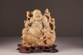 A Republic Period Chinese Soapstone Buddha