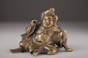 A Japanese Gilt Bronze Figure Of A Samurai