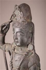Large 16th-17th Century Standing Chinese Guanyin Buddha