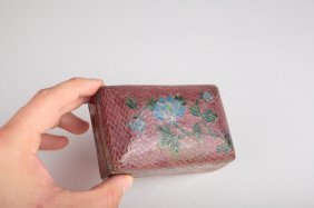 A Chinese Gilt And Red Plique A Jour Enameled Box