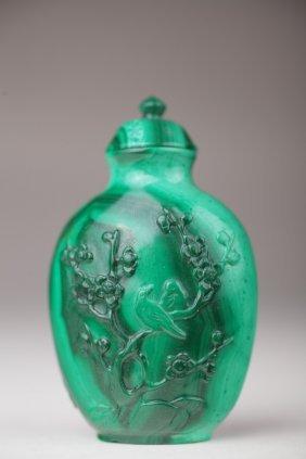 A Chinese Malachite Snuff Bottle
