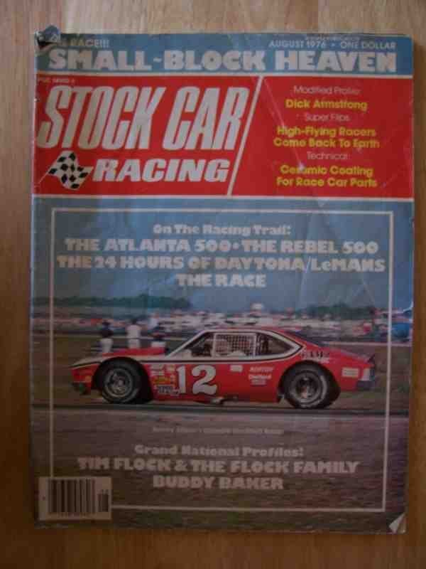 1024: Stock Car Racing Magazine Aug 1976