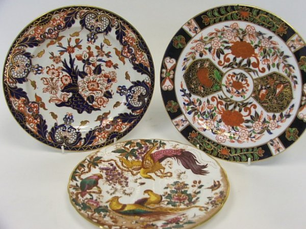 703: A Collection of Three Royal Crown Derby Decorated