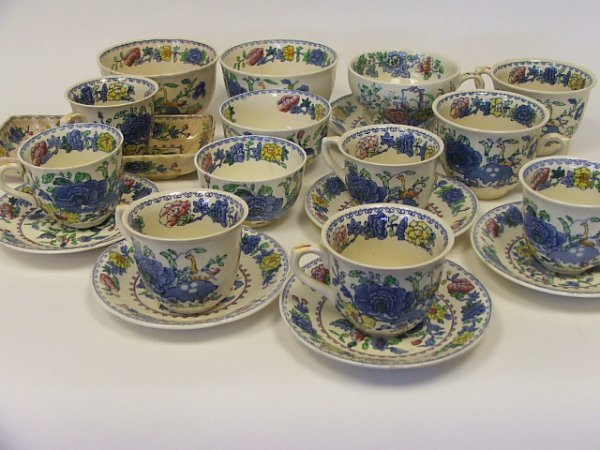 707: A Collection of Masons Regency Pattern Tea Wares v
