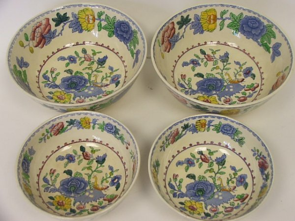713: Two Pairs of Circular Masons Regency Pattern Bowls