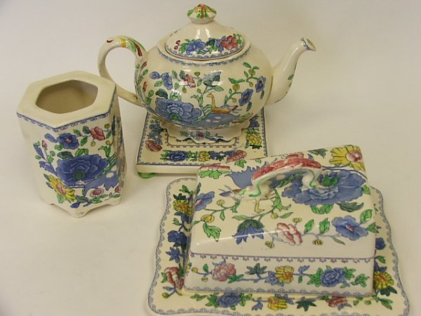 716: A Masons Regency Cheese Dish and Cover, a Teapot o