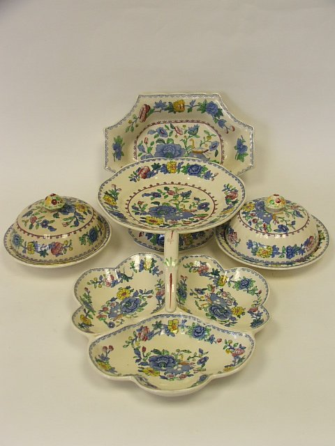 717: A Masons Regency Pattern Trefoil Dish, Vegetable D